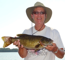 BIG Trophy Smallmouth Bass Fishing at Fireside Lodge Canada by May Lenau