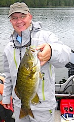 Trophy Smallmouth Bass by Kenny Klimes Fishing at Fireside Lodge Canada