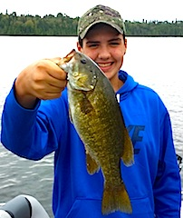 BIG Smallmouth Smile By Robert Spencer Fishing at Fireside Lodge Canada