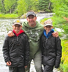 Father Sons Fishing at Fireside Lodge Canada by the Klimes Family