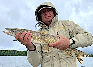 One of Many Nice Northern Pike Fishing by Dave at Fireside Lodge in Canada
