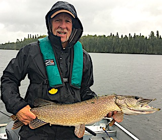 Very Large Northern Pike Fishing by Bob at Fireside Lodge in Northwest Ontario Canada