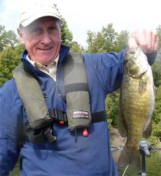 Fishing Smallmouth Bass at Fireside Lodge Canada from Great Britain