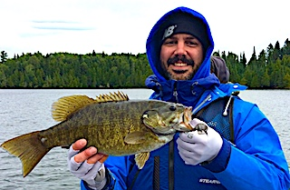 Trophy Smallmouth Bass Fishing by Nick at Fireside Lodge in Canada