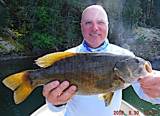 HUGE Trophy Smallmouth Bass by Two by Bill Fishing at Fireside Lodge in Canada