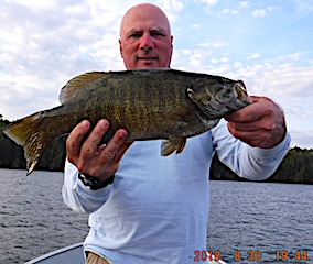 2nd Trophy Smallmouth Bass in 1 Day Fishing at Fireside Lodge in Canada by Bill