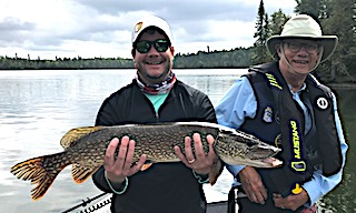 GREAT Northern Pike Fishing with Dad at Fireside Lodge in Canada for 20 Years
