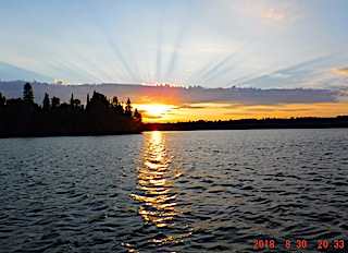 Amazingly Awesome Sunsets While Fishing at Fireside Lodge in Canada