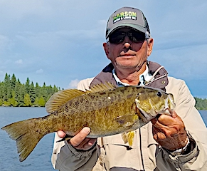 BIG Trophy Smallmouth Bass Fishing at Fireside Lodge in Canada by Steve