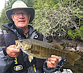Great Trophy Smallmouth Bass Fishing by Paul at Fireside Lodge