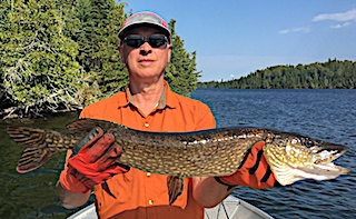 Great Northern Pike Fishing at Fireside Lodge by Spencer in Canada