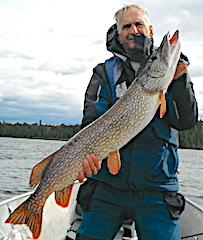 Trophy Northern Pike Fishing by Bryan Neel at Fireside Lodge in Canada