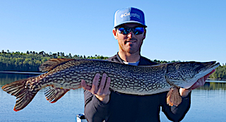 41-inch Northern Pike by Josh Fishing at Fireside Lodge in Canada