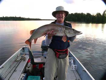 trophy pike fishing  in northern ontario Canada