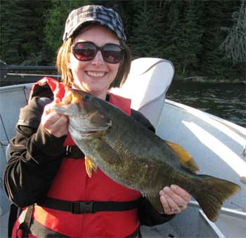 father daughter trophy smallmouth bass fishing Canada