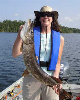ladies fishing canada lakes for northern pike