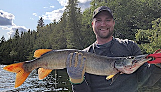 Muskie Fishing is a Blast by Corey at Fireside Lodge in Canada