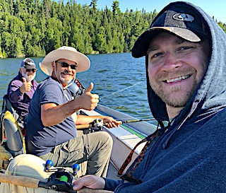 Thumbs Up to Fishing at Fireside Lodge in Northwest Ontario Canada