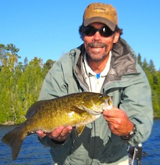 Many BIG Smallmouth Bass Fishing at Fireside Lodge Canada by Bill Calhoon