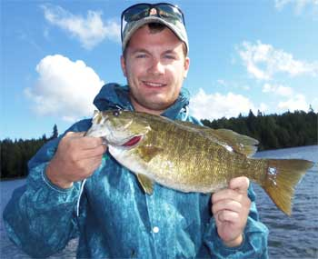 Fishing for BIG Smallmouth Bass at Fireside Lodge is a BLAST