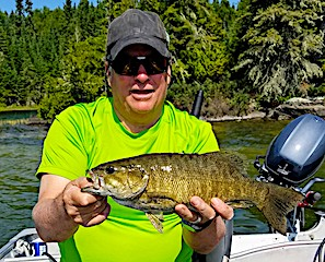 Great Surface Fishing for Trophy Smallmouth Bass at Fireside Lodge in Canada by Vince