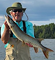 One of 2 Muskie in 1 Day Fishing by Leon in Canada