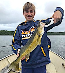 BIG Walleye Portage Fishing by Kyle at Fireside Lodge in Canada