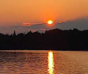 Beautiful Sunset To End a Fabulous Fishing day at Fireside Lodge in Canada
