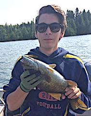 1st Ever Trophy Smallmouth Bass Fishing by Garrett in Canada