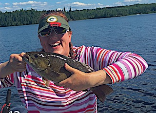 BIG Trophy Smallmouth Bass Fishing by Polly at Fireside Lodge in Canada