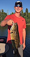 GIANT Trophy Smallmouth Bass Fishing by Braden in Canada