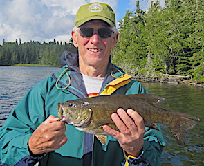 Trophy Smallmouth Bass Fishing by Bill at Fireside Lodge in Canada