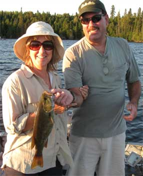 family fishing lodge for smallmouth bass in canada