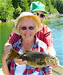 Couples Trophy Smallmouth Fishing