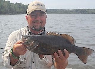 BIG Trophy Smallmouth Bass by Tim Fishing at Fireside Lodge