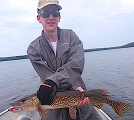Love Northern Pike Fishing at Fireside Lodge by Jacob