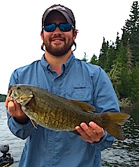 Trophy Smallmouth Bass Fishing by William Reames at Fireside Lodge