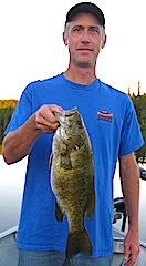 MONSTER Trophy Smallmouth Bass by Matt Fishing at Fireside Lodge