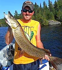 BIG Thick Northern Pike Fishing at Fireside Lodge by Chris