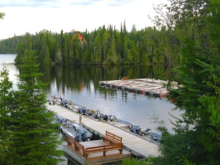 Boats, Motors & Docks on Little Vermilion Lake at Fireside Fishing Lodge in Canada