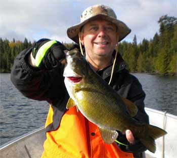 1 of 2 Trophy Smallmouth Bass Fishing at Fireside Lodge Canada