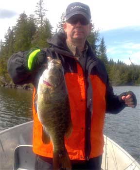 HUGE Trophy Smallmouth Bass Fishing at Fireside Lodge Canada