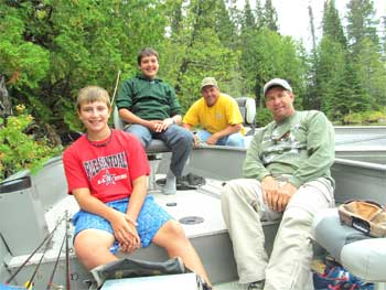 Father & Son Fishing at Fireside Lodge Canada