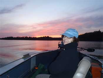 The Beauty at Sunsets Fishing at Fireside Lodge Canada