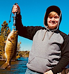 My First Trophy Smallmouth Bass Fishing by Jacob at Fireside Lodge in Canada