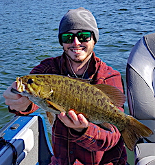 Fall Trophy Smallmouth Bass are HUGE Fishing at Fireside Lodge in Canada by Kevin