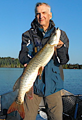 BIG Muskie by Bryan Fishing at Fireside Lodge in Canada
