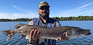 Trophy Northern Pike Fishing by Frank at Fireside Lodge in Canada