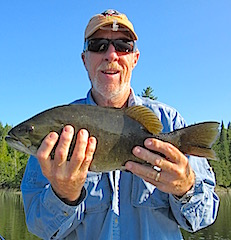Trophy Smallmouth Bass by Bob Fishing at Fireside Lodge