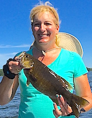 Large Smallmouth Bass are common at Fireside Lodge by Colleen